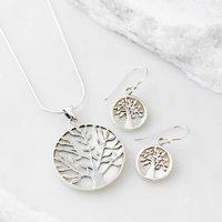 Pearl Tree Of Life Jewellery Set, Pearl/Turquoise