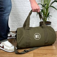 Personalised Holdall With Initials In Circle