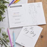 White Printed Kids Entertainment Wedding Activity Book