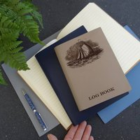 Leather Sailing Boat Journal Cruising Log Book