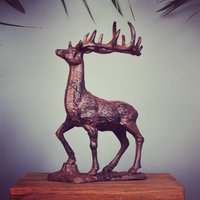 Cast Iron Stag Sculpture