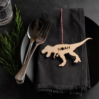 Personalised Wooden Dinosaur Place Setting
