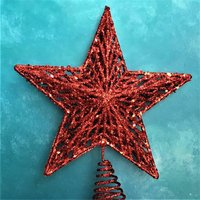 Red Abstract Star Christmas Tree Topper