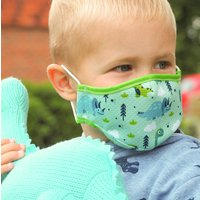 Dinosaur Sustainable Childrens Reusable Face Mask