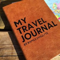 Travel Journal Undated, Chocolate/Russet/Red