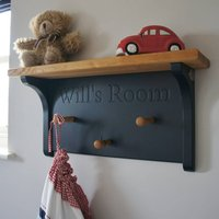Children's Personalised Peg Rail In Choice Of Colours