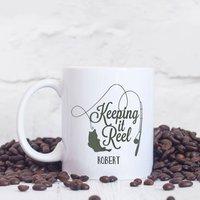 Personalised 'Keeping It Reel' Fishing Mug