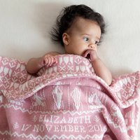 Playtime Baby Blanket In Pink, Pink