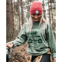 Heather Green 'Adventure Awaits' Sweatshirt And Bag