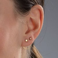 Star Stud Spiral Earrings