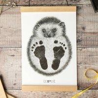 Personalised Baby Hedgehog Footprint Kit