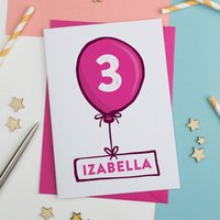 Happy Birthday Balloon Card Personalised