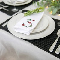 Personalised Holly Berry Christmas Napkin