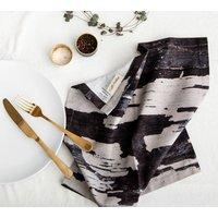 Abstract Textured Cotton Napkin Monochrome