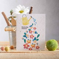 'Birthday Wishes!' Plantable Gardening Seed Card