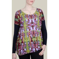 Green Heart Printed Oversized Jersey Top