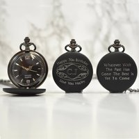 Personalised 70th Birthday Gift Pocket Watch Initials