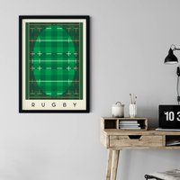 Rugby Minimalist Sports Poster