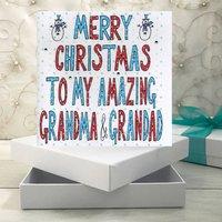 Personalised Grandma And/ Or Grandad Christmas Book