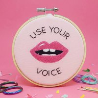 Use Your Voice Mini Embroidery Kit