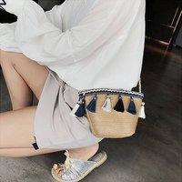 Summer Tassle Straw Boho Handbag
