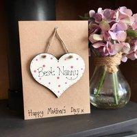 Mother's Day Nanny Keepsake Card