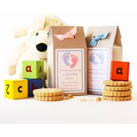 Personalised Baby Shower Cookie Mix Favours, Pink/Blue