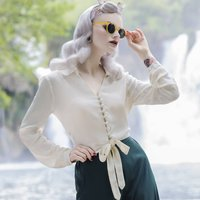 Clarice Blouse | Authentic Vintage 1940's Style