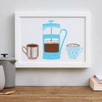 Coffee O'clock Risograph Print