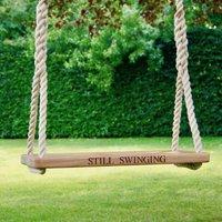Personalised Oak Adult Garden Rope Tree Swing