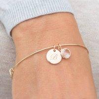 Skylyn Sterling Silver Personalised Bracelet, Silver