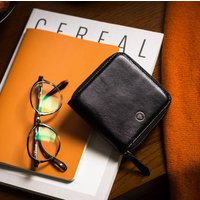 Ladies Square Leather Zipped Wallet 'Forino'