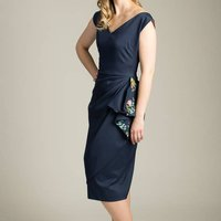 Handmade 1950s Inspired Waterfall Pencil Dress