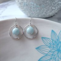 Aquamarine Birthstone Earrings