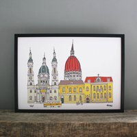 Budapest Cityscape Print