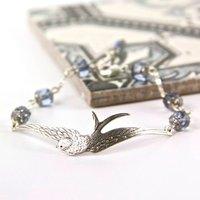 Silver Soaring Bird Bracelet, Silver