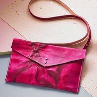 Leather Tie Dye Cross Body Bag