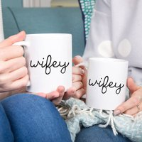 Wifey And Wifey Couples Mug Set