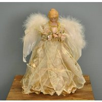 Golden Fairy Christmas Tree Topper