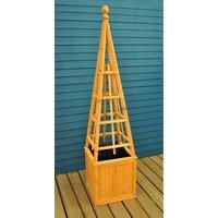Wooden Garden Obelisk Flower Planter