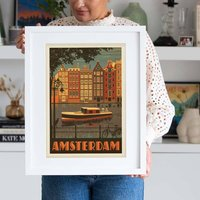 Amsterdam Travel Print