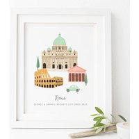 Personalised Rome City Print