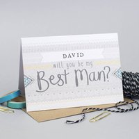 Will You Be My Best Man Personalised Card