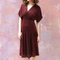 Midi Dress In Deco Velvet Devoree