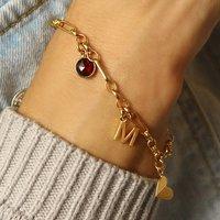 Personalised 18ct Gold Vermeil Charm Bracelet, Gold