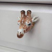 Porcelain Giraffe Drawer Pull