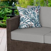 Boho White Whimsical Water Resistant Outdoor Cushion