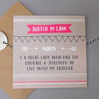 Funny Sister In Law Card