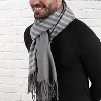 Men's Personalised Super Soft Stripe Scarf