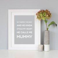 'Mummy' Gift Quote Print, Black/Navy/Grey
